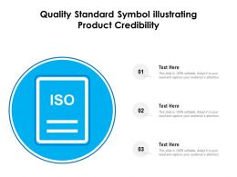 Quality Standard Symbol Illustrating Product Credibility