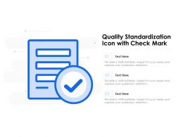 Quality Standardization Icon With Check Mark