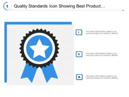 Quality Standards Icon Showing Best Product Tag Of Assurance