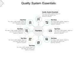 Quality System Essentials Ppt Powerpoint Presentation Inspiration Brochure Cpb