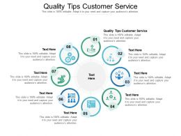 Quality Tips Customer Service Ppt Powerpoint Presentation Icon Microsoft Cpb