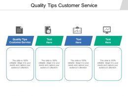 Quality Tips Customer Service Ppt Powerpoint Presentation Styles Slide Cpb