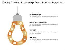 Quality Training Leadership Team Building Personal Growth Development