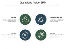 Quantifying Value Erm Ppt Powerpoint Presentation Layouts Brochure Cpb