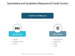 Quantitative And Qualitative Measures Of Credit Control