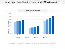 Quantitative Data Showing Revenue Of Emea And America