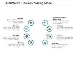 Quantitative Decision Making Model Ppt Powerpoint Presentation Template Cpb