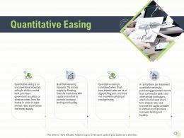Quantitative Easing Banknotes Lower Powerpoint Presentation Display