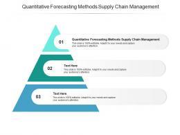 Quantitative Forecasting Methods Supply Chain Management Ppt Powerpoint Presentation Cpb