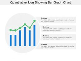 Quantitative Icon Showing Bar Graph Chart