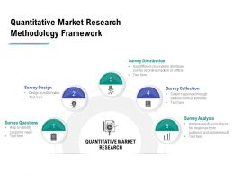 Quantitative Market Research Methodology Framework