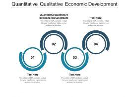 Quantitative Qualitative Economic Development Ppt Powerpoint Presentation Slides Cpb