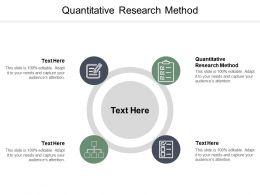 Quantitative Research Method Ppt Powerpoint Presentation Layouts Ideas Cpb