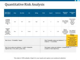 Quantitative Risk Analysis Ppt Layouts Rules