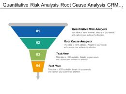 Quantitative Risk Analysis Root Cause Analysis Crm Portfolio Management Cpb