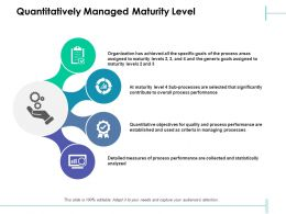 Quantitatively Managed Maturity Level Managing Processes Ppt Powerpoint Slides Objects