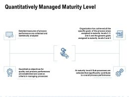 Quantitatively Managed Maturity Level Ppt Powerpoint Presentation Model