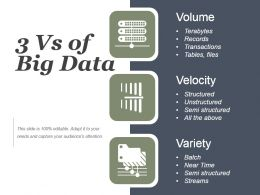 Quantity Nature Speed Of Big Data Powerpoint Slide Designs Download