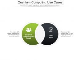 Quantum Computing Use Cases Ppt Powerpoint Presentation Ideas Microsoft Cpb