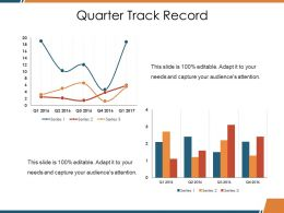 Quarter Track Record Ppt Designs Download