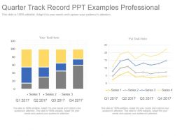 Quarter Track Record Ppt Examples Professional