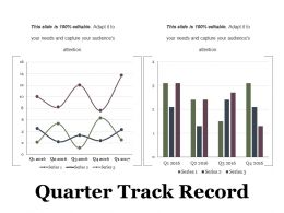 Quarter Track Record Ppt Examples Slides