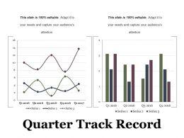 Quarter Track Record Ppt Examples Slides