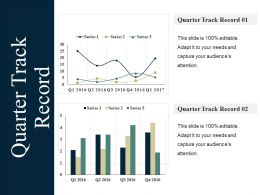 Quarter Track Record Ppt Summary Mockup