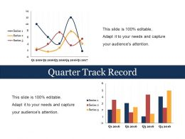 Quarter Track Record Sample Of Ppt Presentation