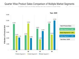 Quarter Wise Product Sales Comparison Of Multiple Market Segments