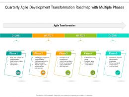 Quarterly Agile Development Transformation Roadmap With Multiple Phases