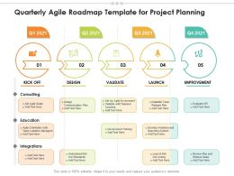 Quarterly Agile Roadmap Template For Project Planning