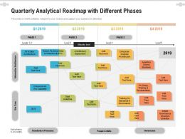 Quarterly Analytical Roadmap With Different Phases