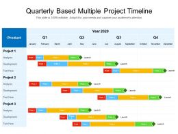 Quarterly Based Multiple Project Timeline