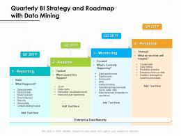 Quarterly BI Strategy And Roadmap With Data Mining