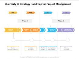 Quarterly Bi Strategy Roadmap For Project Management