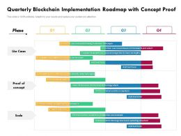 Quarterly Blockchain Implementation Roadmap With Concept Proof