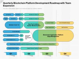 Quarterly Blockchain Platform Development Roadmap With Team Expansion
