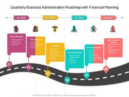 Quarterly Business Administration Roadmap With Financial Planning