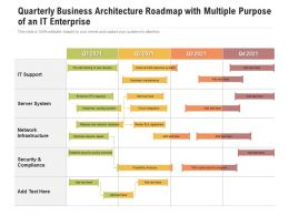 Quarterly Business Architecture Roadmap With Multiple Purpose Of An IT Enterprise