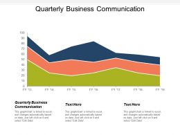 Quarterly Business Communication Ppt Powerpoint Presentation Icon Rules Cpb