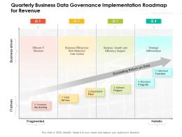 Quarterly Business Data Governance Implementation Roadmap For Revenue