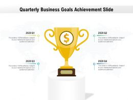 Quarterly Business Goals Achievement Slide