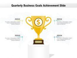 Quarterly Business Goals Achievement Slide