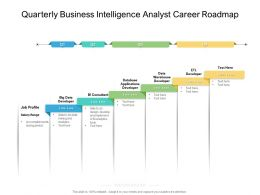 Quarterly Business Intelligence Analyst Career Roadmap