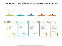 Quarterly Business Intelligence Employee Career Roadmap
