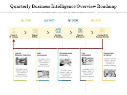 Quarterly Business Intelligence Overview Roadmap
