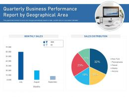 Quarterly Business Performance Report By Geographical Area