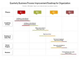 Quarterly Business Process Improvement Roadmap For Organization