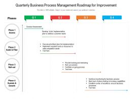 Quarterly Business Process Management Roadmap For Improvement